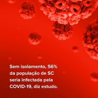 Sem isolamento, 56% da população de SC seria infectada pela COVID-19, diz estudo