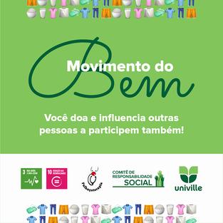 Comitê de Responsabilidade Social da Univille promove o Movimento do bem