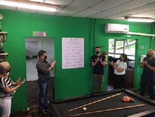 DCE e Reitoria Univille apresentam espaço revitalizado